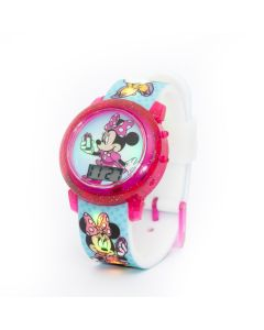 Disney Minnie Mouse Digital Watch with Colourful Changing Lights in Strap