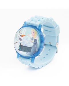 Disney Frozen Silicone Strap Floating Digital Watch with Flashing light
